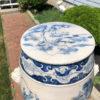 Fine Vintage Hand-Glazed Blue and White Garden Stool Seat