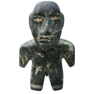 Ancient Jade Pre Columbian Figure Supernatural Human