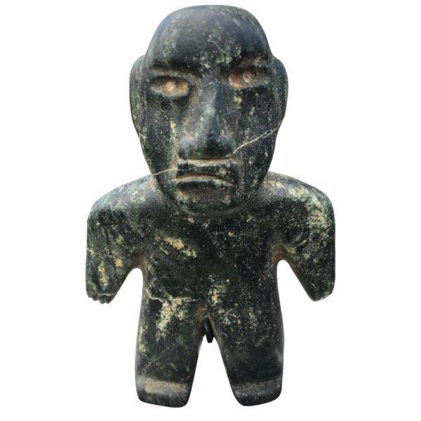 Ancient Jade Pre Columbian Figure Supernatural Human