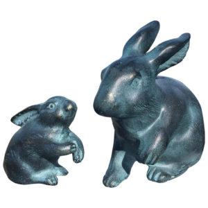 Japanese Big Blue Bronze Rabbits