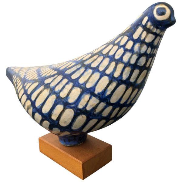 Blue Love Dove Handmade Hand Painted Master Artisan Eva Fritz-Lindner