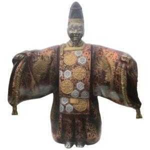 Japan Good Luck Happiness Bronze Noh Actor