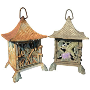 """Birds And Dragonfly"" Hand Cast Lanterns"