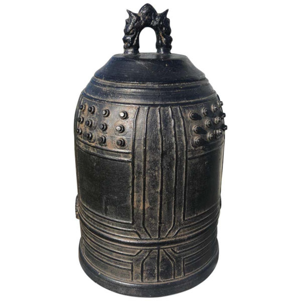 Japanese Big Antique Bronze Bell with Bold Sound