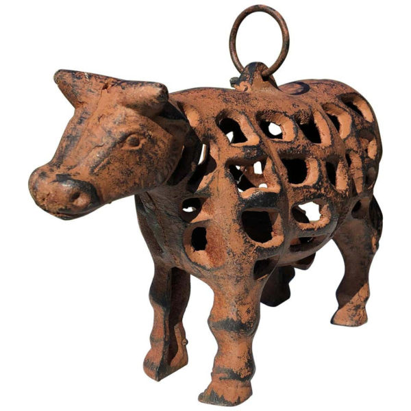 "Japanese Hand Cast ""Cow"" Lantern, Rare Find"
