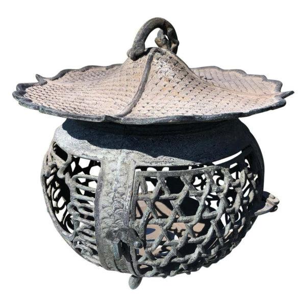 Antique Round Bronze Lantern