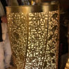 """Fine Artisan Hand Crafted Floor Lamp """"Ribbon Floral"""" Tower"""