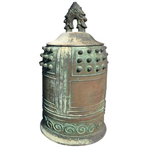 Big Bold Bronze Buddhist Temple Bell