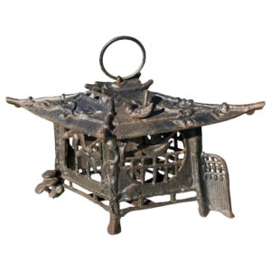 Tea House Bronze Birds & Dragonflies Garden Lantern