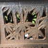 "Bronze ""Flowers, Bamboo, And Grasses"" Lantern"