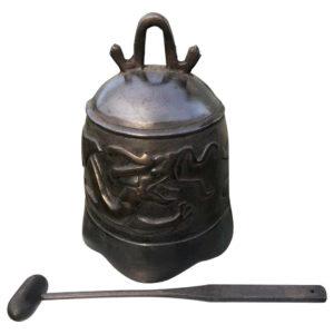 "Hand Cast Bronze Temple Bell ""Dragon"""