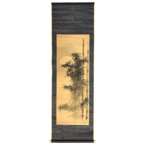 """Beautiful Bamboo at Midnight"" Scroll"