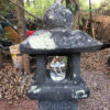 "Japanese Tall Antique ""Arts & Crafts"" Stone Pathway Lantern, 40"""