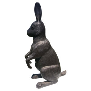 Japanese Fine Huge 20.5 high Bronze Rabbit Usagi