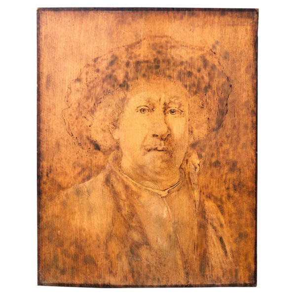 American Antique Painting After Rembrandt by Norman Kingsley