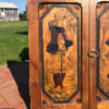"""France Antique Handcrafted """"Brittany"""" Paul Fouillen Arts Crafts Panel Set"""