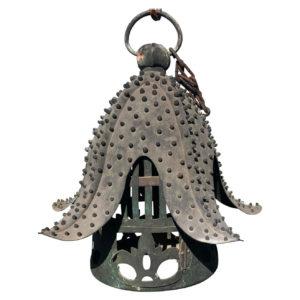 Antique Bronze Star Fish Lantern