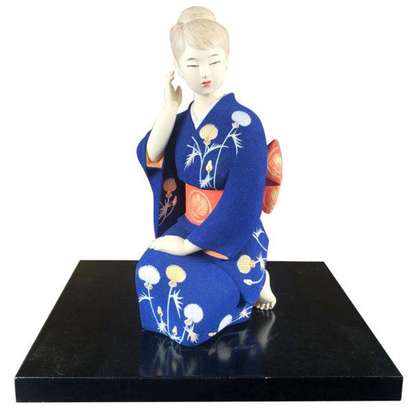 Japanese Fine Hakata Ningya Geisha Doll by Tetsusaburo