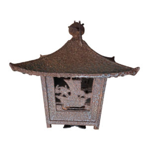 Japanese Large Antique Sailing Ship Lantern & Wind Chime Beautiful Ringing Bell