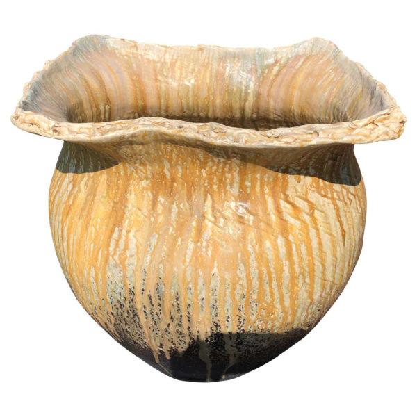 Japanese Big Master Artisan Hand Thrown Pot