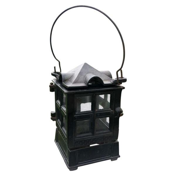 Vintage Arts and Crafts Black Mission Lantern