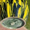 Japanese Black And Yellow Art Deco Studio Vase