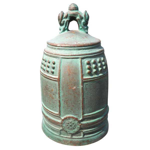 Japanese Fine Old Blue Bronze Bell
