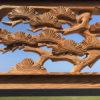 "Japanese Fine Old ""Flying Crane & Trees"" Screen"