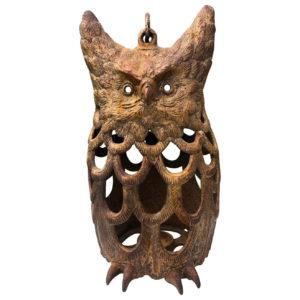 """Japanese Rare Old """"Owl"""" Lighting Lantern"""