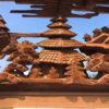 Japanese Fine Old Samurai Pavilion and Minka House Screen