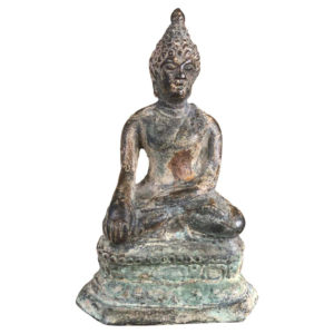 Antique Bronze Enlightenment Seated Buddha, 200 Years Old