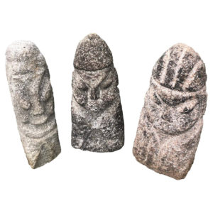 China Three Carved Stone Human Sculptures