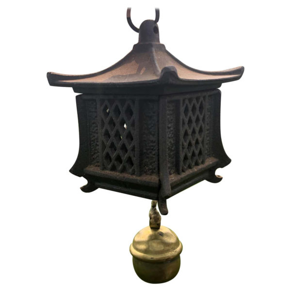 Japanese Vintage Lantern and Wind Chime with Beautiful Ringing Bell