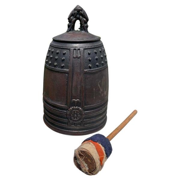 Japanese Older Temple Bell Resonates Beautiful Serene Sound