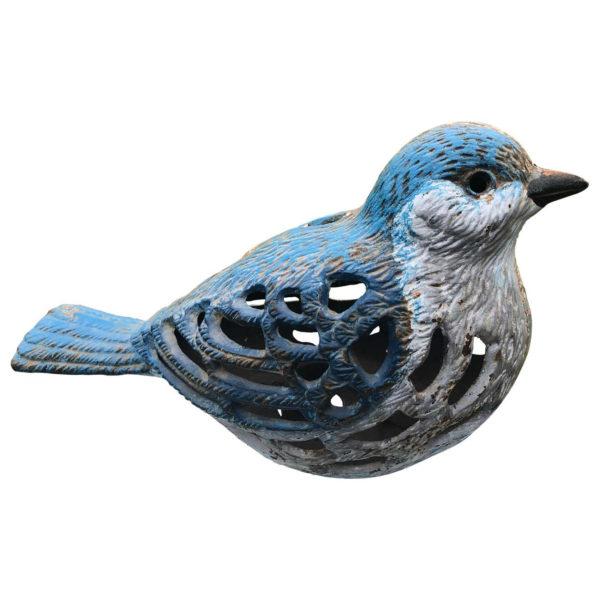 Japan Antique Blue Bird Garden Lantern