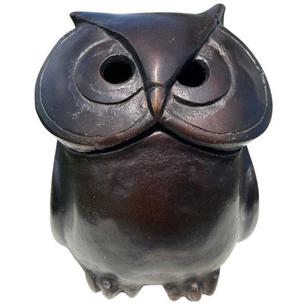 "Japanese Antique Hand Cast ""Owl"" Lantern, Rare Find"