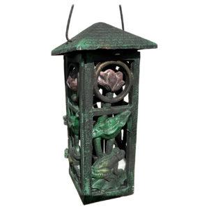 "Japanese Art Nouveau ""Frog & Orchid"" Garden Lantern"