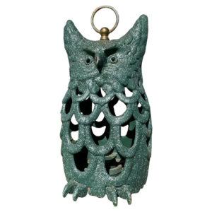 "Japanese Rare Tall Green ""Owl"" Lighting Lantern"