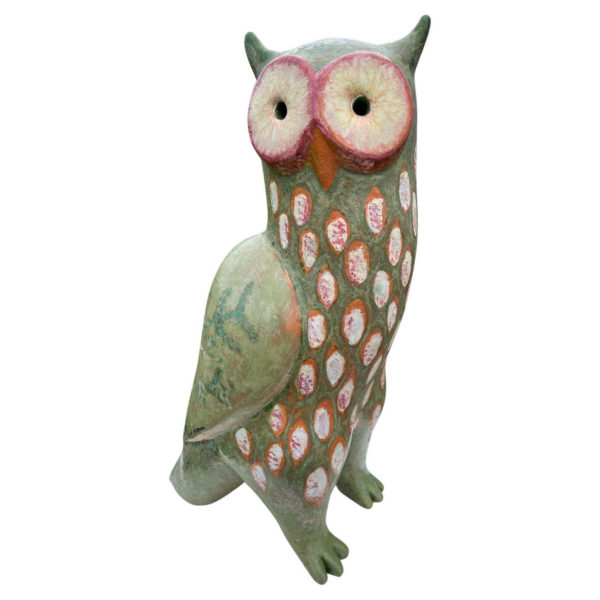 Spotted Owl Master Sculpture Hand-Painted by Eva Fritz-Lindner