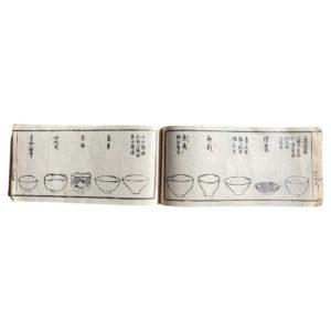 Japan Antique Tea Guide Ceremony Woodblock Prints Book 1850