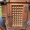 Japanese Pair Antique Classic Door Panel Garden Lanterns