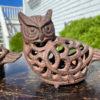 Japanese Old Pair Nesting Owl Garden Lanterns