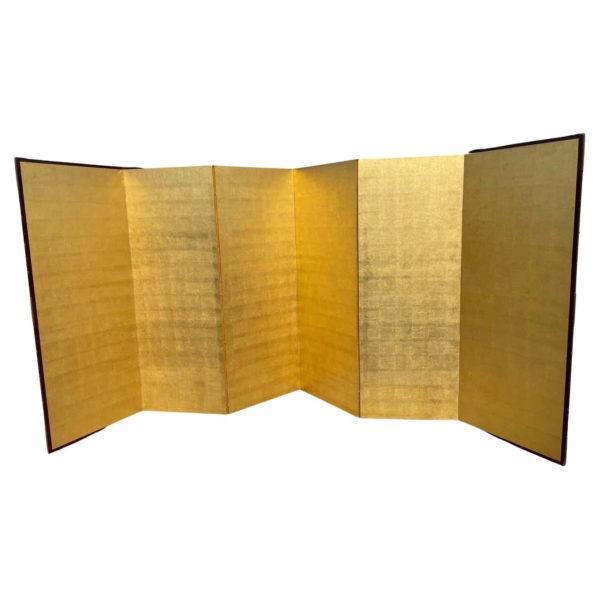 Japanese Antique Stunning Gold Leaf Screen