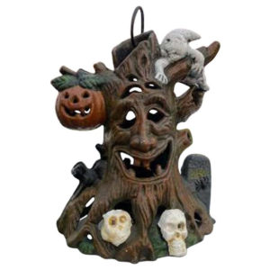 Japanese Old Vintage Ghostly Skulls Jack-o-lantern Lighting Lantern