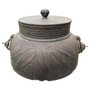 Japanese Old Tea Leaves Tea Pot Chagama, Immediately Usable
