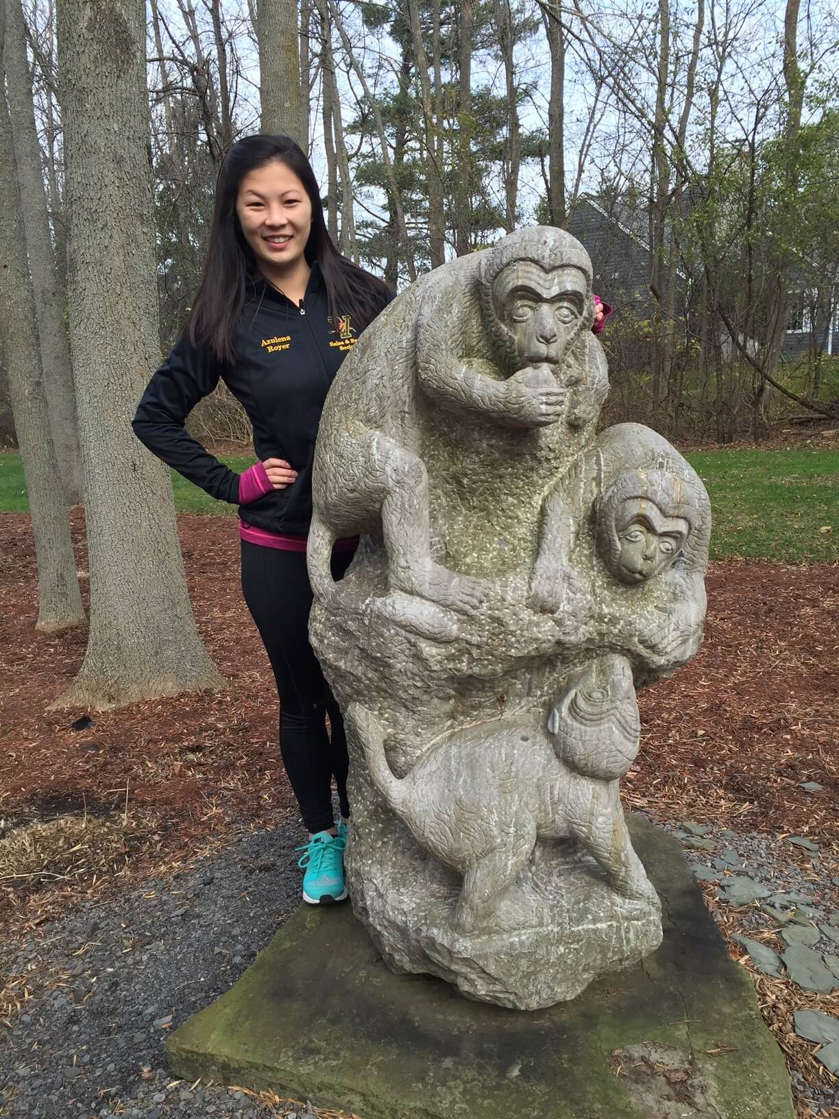 China Monumental Artisan Carved Stone Sculpture Quot Monkey